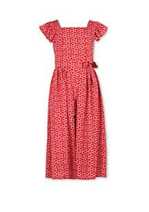 Speechless Girls 7-16 Red White Smocked Walk Through Dress
