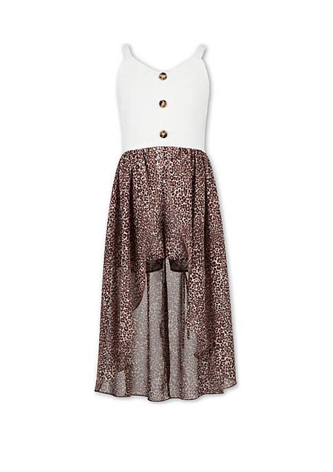 Girls 7-16 Button Front Walk Through Dress