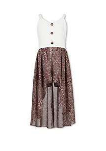 Speechless Girls 7-16 Button Front Walk Through Dress