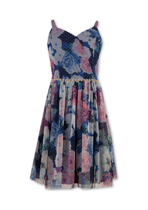 Girls 7-16 Floral Print Dress