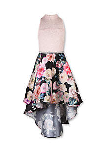 Speechless Girls 7-16 Ivory to Floral High Low Party Dress