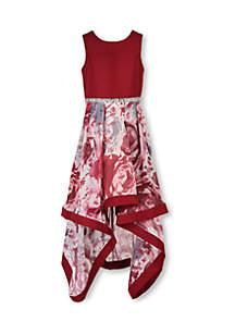 Girls 7-16 Floral Dress
