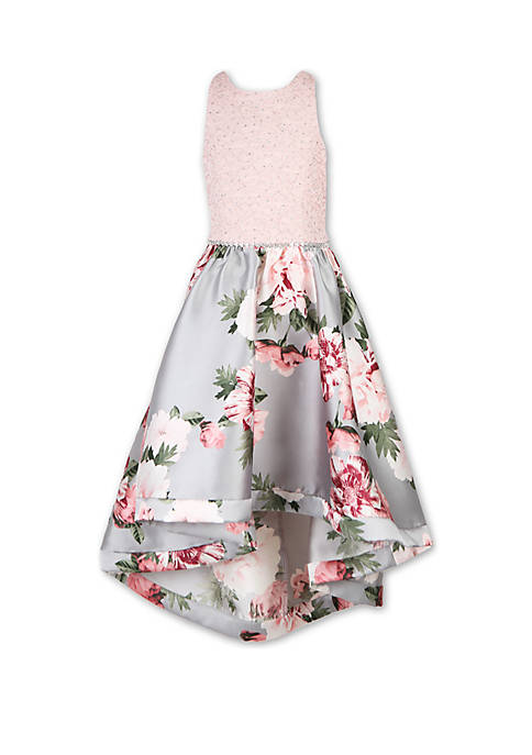 Girls 7-16 Floral High Low Dress
