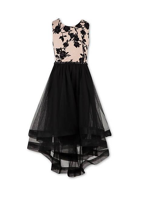 Girls 7-16 Floral High Low Dress