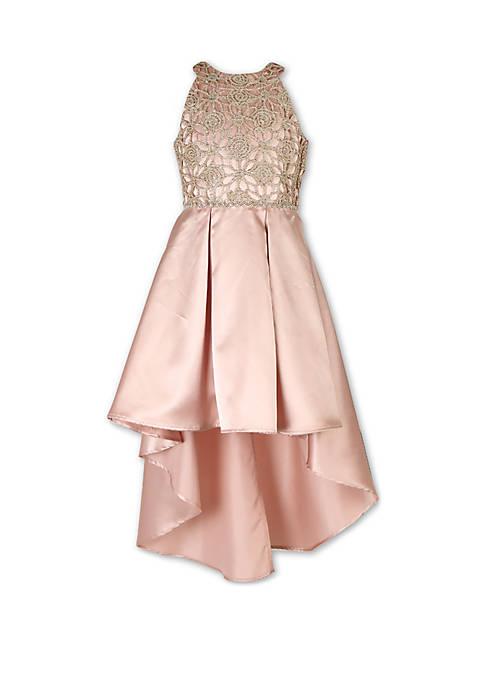 Girls 7-16 Lace Pleat Skirt Dress