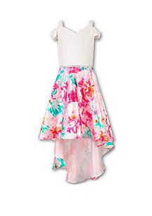 Speechless Girls 7-16 Ivory to Blush High Low Dress