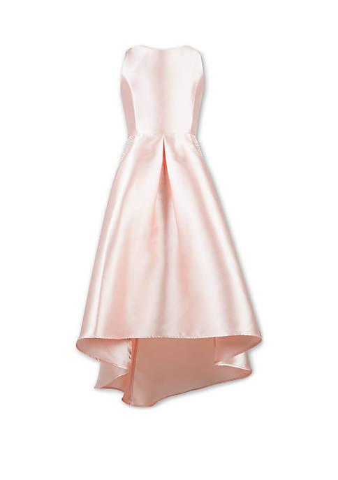 Girls 7-16 Solid Blush Hi Lo Dress