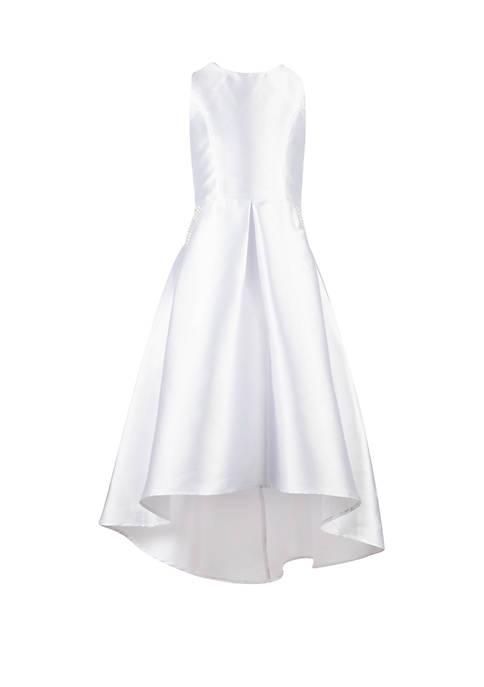 Girls 7-16 Solid White Hi Lo Dress