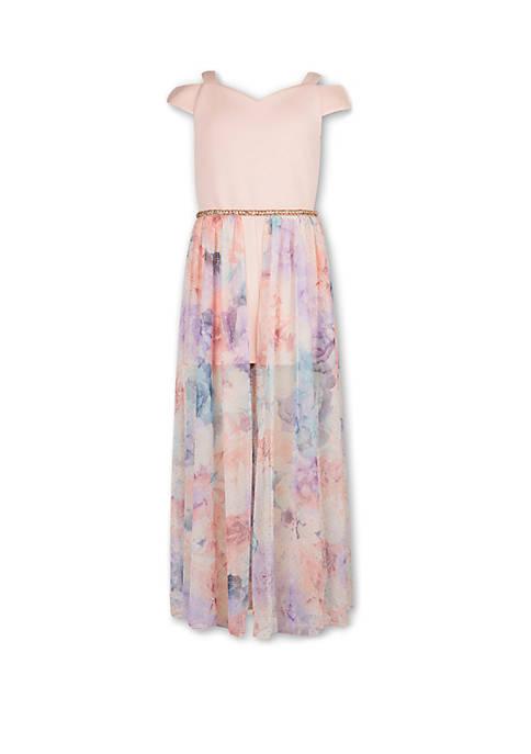 Girls 7-16 Blush Maxi Floral Dress