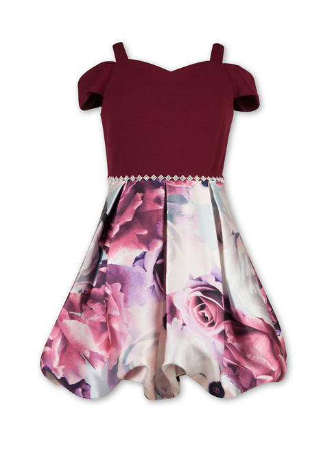 Girls 7-16 Sweetheart Fit and Flare Dress