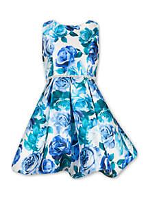 8c6ef08eb5 ... Speechless Girls 7-16 Rose Print Belted Pleated Dress