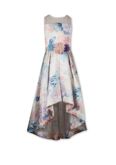 Speechless Girls 7-16 Floral Multi High Low Illusion