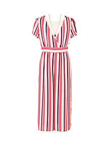 114590b5423 ... Romper · Speechless Girls 7-16 Multi Stripe Short Sleeve Jumpsuit