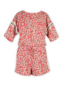 Speechless Girls 7-16 Floral Knit Romper