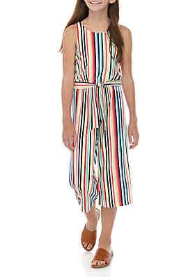 e39304f35c3 SEQUIN HEARTS girls Girls 7-16 Multi Stripe Belted Knit Jumpsuit ...
