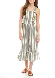 d439d6e91d54 ... Shoulder Dress · SEQUIN HEARTS girls Girls 7-16 Woven Black White  Vertical Stripe Jumpsuit