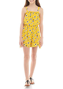 1a6e8d28 ... SEQUIN HEARTS girls Girls 7-16 Lemon Floral Romper