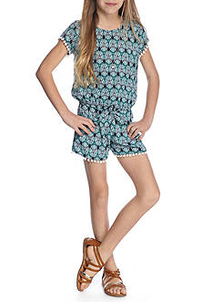 SEQUIN HEARTS girls 2-Piece Paisley Print Top And Shorts Set Girls 7-16