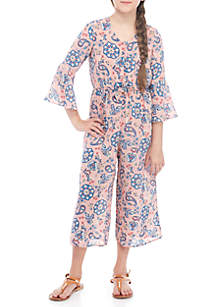 SEQUIN HEARTS girls Girls 7-16 Floral Pant Suit