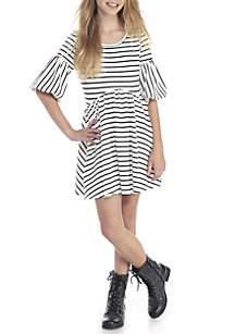 Belle Sleeve Striped Dress Girls 7-16