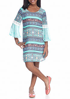 SEQUIN HEARTS girls Printed Shift Dress Girls 7-16