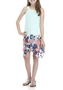 Girls 7-16 Floral Print Dress