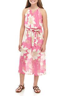132cebe6cd1c ... SEQUIN HEARTS girls Girls 7-16 Pink Floral Jumpsuit
