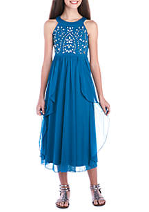 Jewel Bodice Maxi Dress Girls 7-16