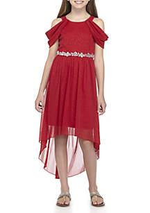 Girls 7-16 Grecian Sleeve Midi Dress