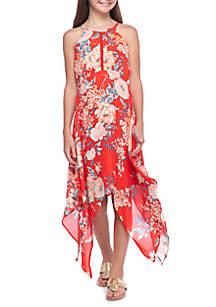 Girls 7-16 Floral Halter Midi Dress