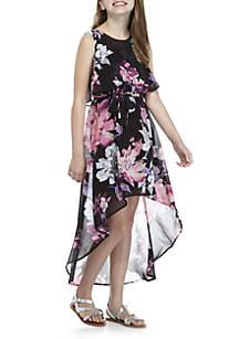Girls 7-16 Hi-Lo Floral Dress