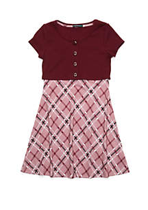 My Michelle Girls 7-16 Cap Sleeve Cardigan Dress