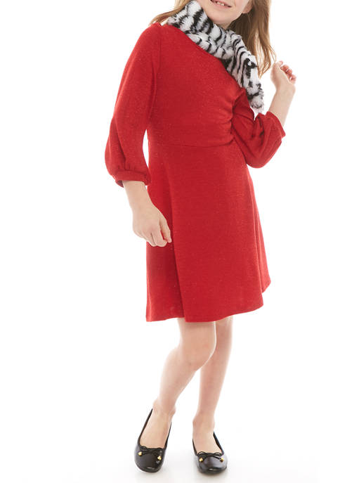 SEQUIN HEARTS girls Girls 7-16 Red Glitter Knit
