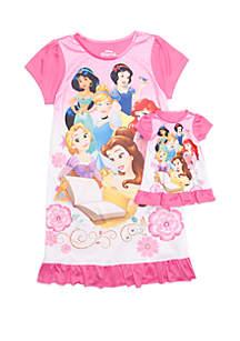Girls 4-8 Princess Pajamas