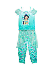 Disney® Princess Girls 4-8 Aladdin Fantasy 2 Piece Pajama Set