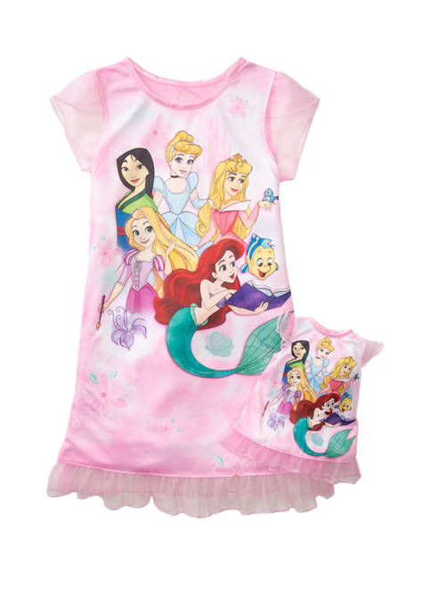 Disney® Princess Girls 4-8 Dorm and Doll Dress