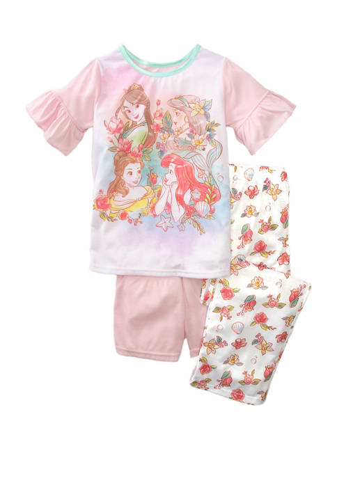 Girls 4-10 3 Piece Pajama Set