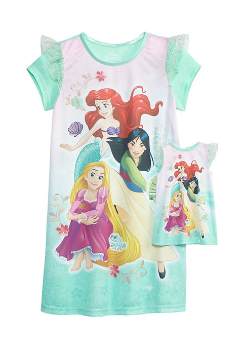 Girls 4-16 Princess Doll & Dorm Gown