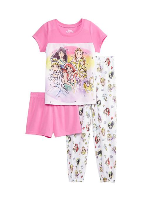 Disney® Princess Girls 4-16 3 Piece Pajama Set