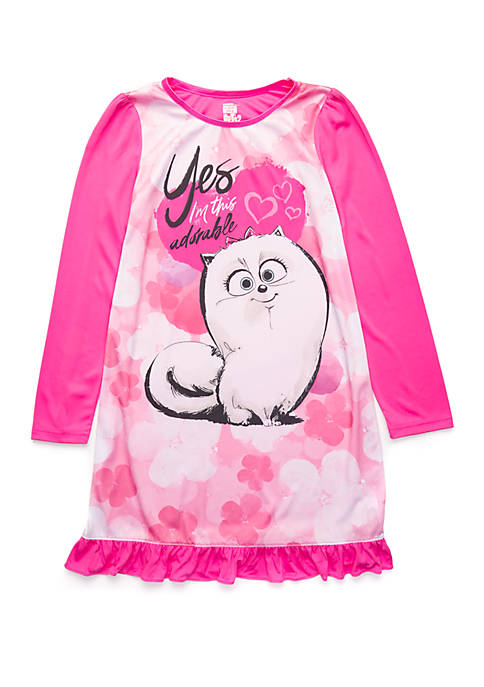 Girls 4-10 Pets Nightgown