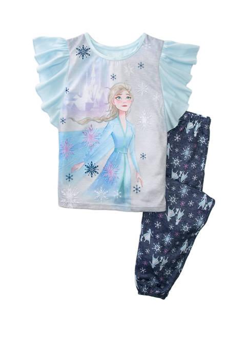 Disney® Frozen 2 Girls 4-8 2 Piece Pajama