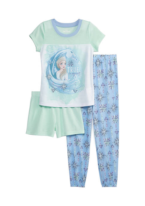 Disney® Frozen 2 Girls 4-8 3-Piece Pajama Set
