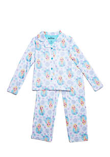 Girls 4-16 Frozen Coat Pajama Set