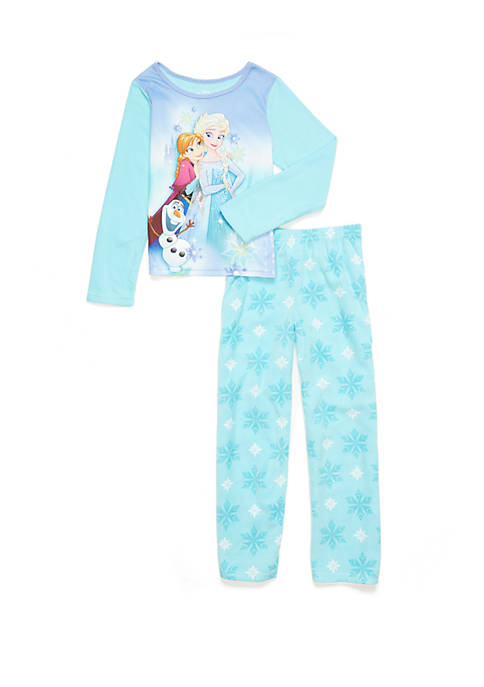 Disney® Frozen Girls 4-10 2 Piece Fleece Pajama