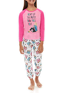 Nickelodeon™ Girls 4-10 JoJo 2 Piece Pajama Set