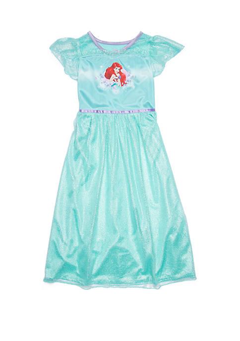 Disney Princess Girls 4-8 Little Mermaid Fantasty Gown
