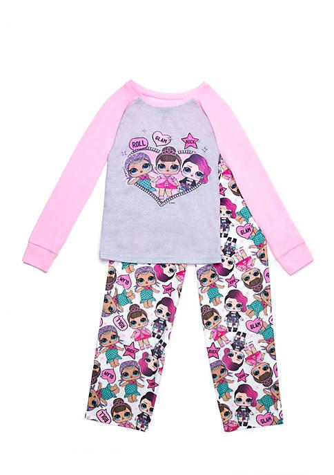 Lol Surprise Girls 4 16 Lol Surprise Thermal Top Pajama