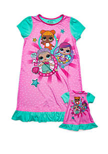 LOL Surprise Girls 4-10 LOL Surprise Nightgown with Doll Gown