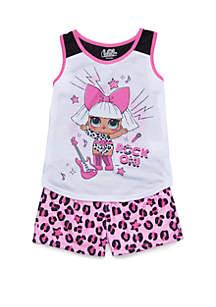 LOL Surprise Girls 4-10 LOL Surprise 2 Piece Pajama Set