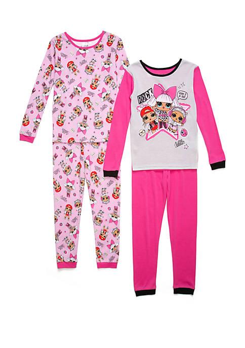 L.O.L. Surprise Girls 4-10 4 Piece Pajama Set